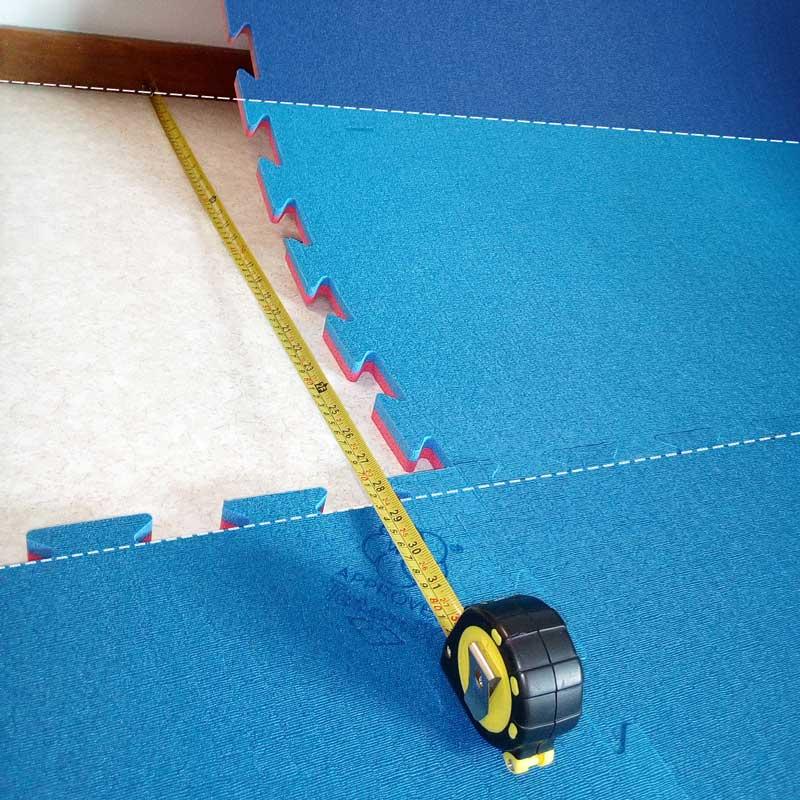 Tatami - Istruzioni per il taglio lungo una parete